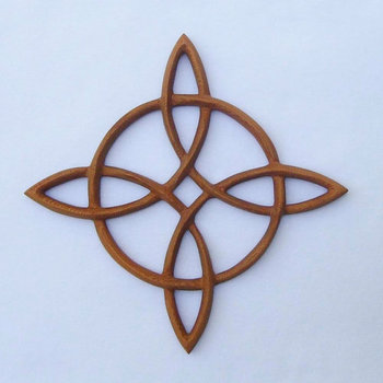 Compass Rose-Celtic Knot of Journey and Return-Sailors Knot Wood Carving