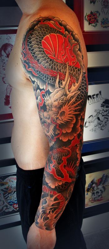 Dragon Sleeve «  Saltwatertattoo