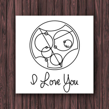 I Love You in Gallifreyan, Doctor Who Valentines Card *Digital Download*