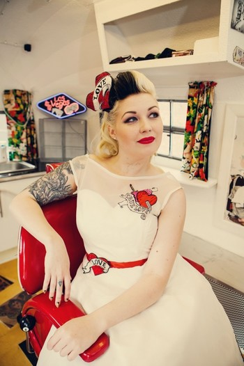 brilliant dress for a #bride with #tattoos. The Couture Company Alternative Bespoke Custom Made Weddi