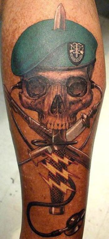 photo of green beret tattoo - Yahoo Search Results