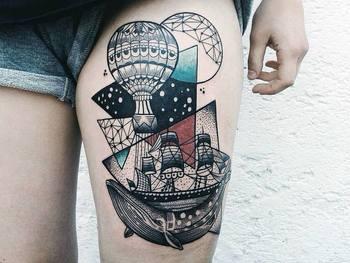 25 Ravishing Thigh Tattoo Ideas For Women | Tattoodo.com