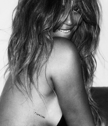 EXCLUSIVE: BEYONCÉ INTRODUCES HER COLLECTION OF FLASH TATTOOS