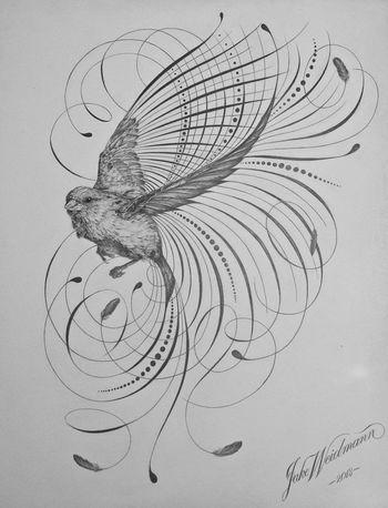 Little Sparrow | Jake Weidmann • Calligraphy • Letter Design