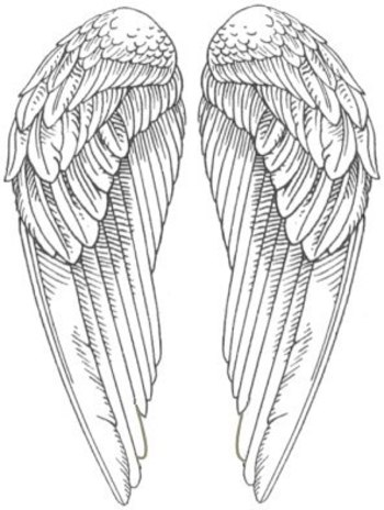 Angel Wings Pictures- Snitch wings A WHOLE BOARD OF PRINTABLES... MOSTLY BLACK AND WHITE.. http://www