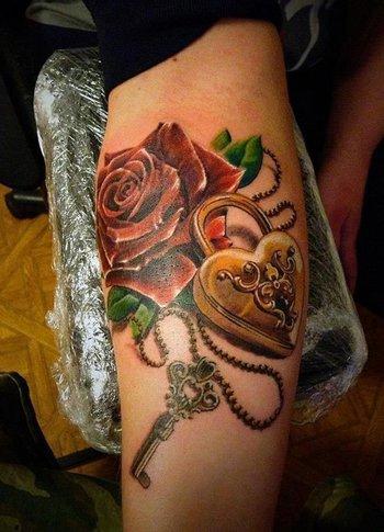 50 Inspiring Lock and Key Tattoos | Art and Design