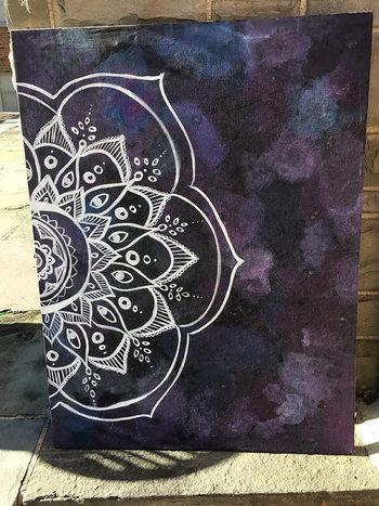 Large Canvas Mandala Painting