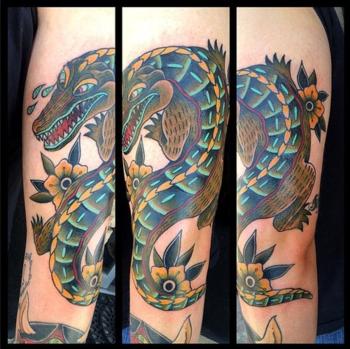 21 Powerful Alligator & Crocodile Tattoo