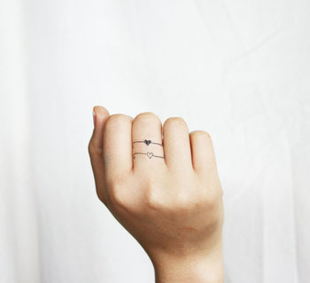 jewellery rings & bracelets inspirational limited edition temporary tattoos artist Emma Patterson on