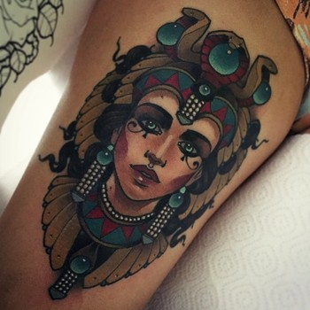 Alluring Neo-Traditional Women Tattoos By Vitaly Morozov | Tattoodo