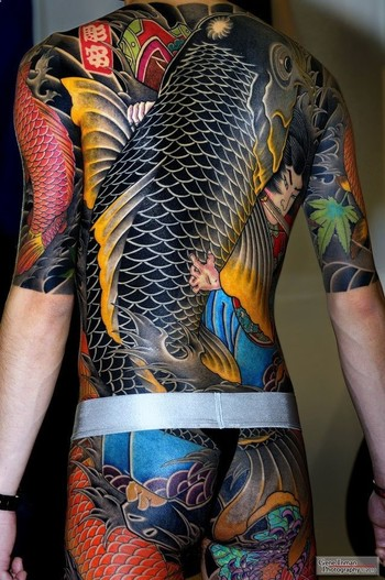 Traditional Japanese Body Suit Tattoo - uglytattooblog.com
