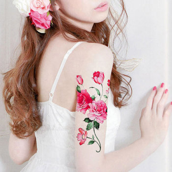1pc Peony Flower big temporary tattoo ***