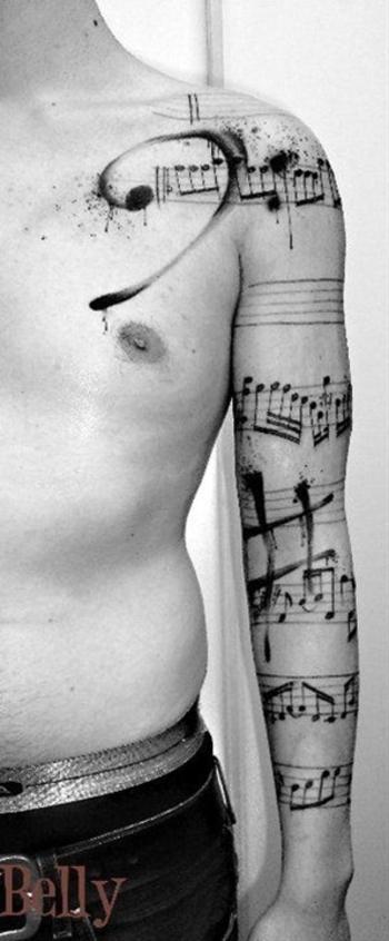 Music note sleeve tattoos... | Postris