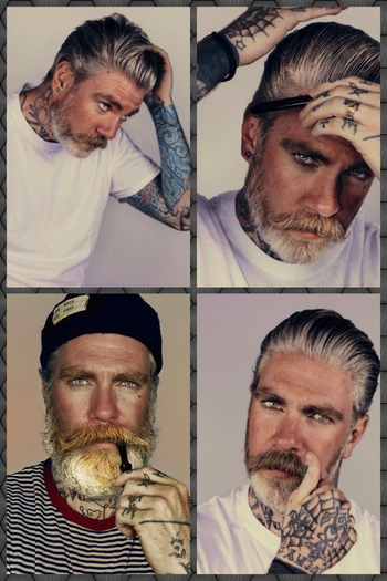 Miles 'Better' Chaplin; one of the two hottest, bearded, tattooed, models out there!! Ricki Hall is t