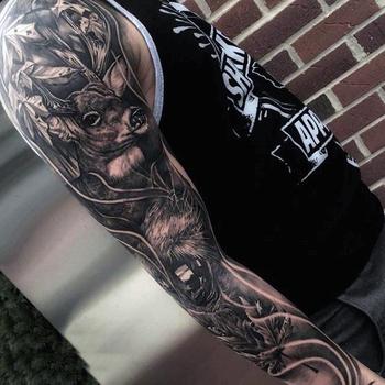 90 Deer Tattoos For Men - Manly Outdoor Designs