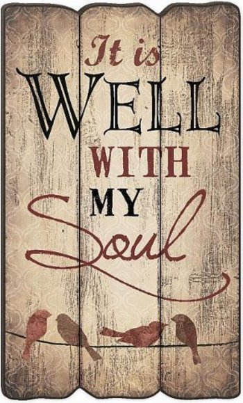 It Is Well With My Soul Fence Post Art 23.5 X 14 P Graham Dunn http://www.amazon.com/dp/B00JZC63F0/re