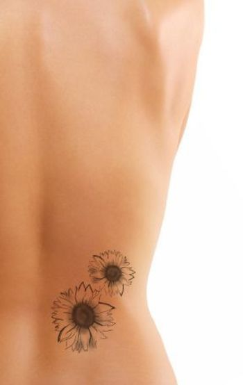 sunflower tattoo - uglytattooblog.com