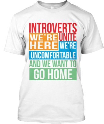 INTROVERTS UNITE! LIMITTION TEE !!