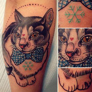 Katie Shocrylas e suas coloridíssimas tattoos neotradicionais psicodélicas - Follow the Colours