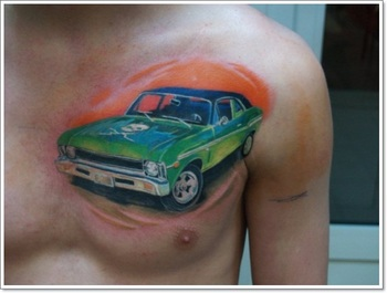 30 of the Most Amazing Car and Motorcycle Tattoo Designs