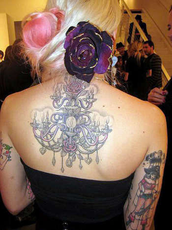 Natalia Fabia- awesome artist *jealous of her chandelier tattoo* (done by Tim Hendricks)
