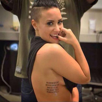 Demi Lovato's 15th tattoo pays tribute to her family
