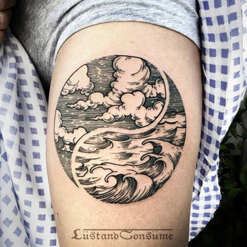 50 Mysterious Yin Yang Tattoo Designs | Art and Design