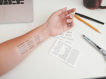 Music Festival Schedules Turned Into Temporary Tattoos