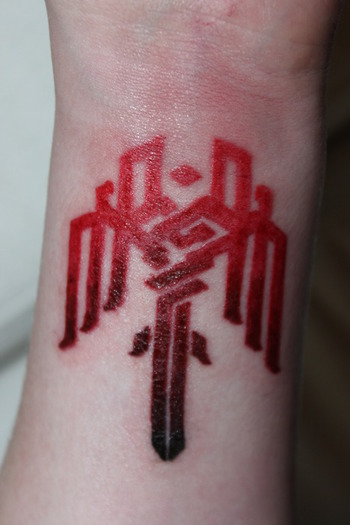 """Funny, really... I see all the Fallout and Star Wars tattoos, and think """"sheesh, that's ridiculous..."""