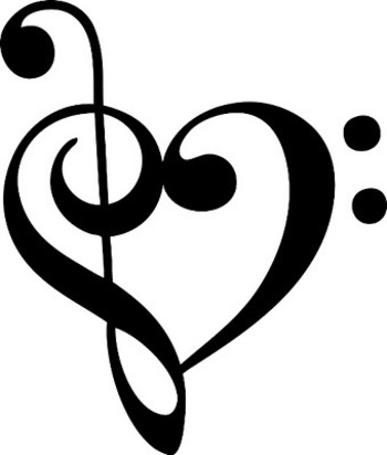 Music Note Heart Window Graphic Vinyl Decal