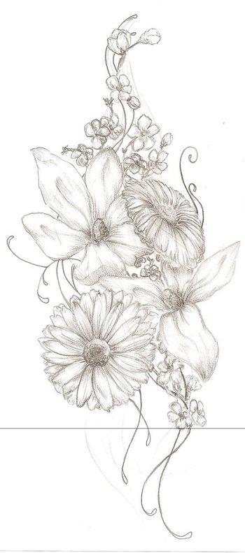Floral Tattoo by wish-misstress on deviantART