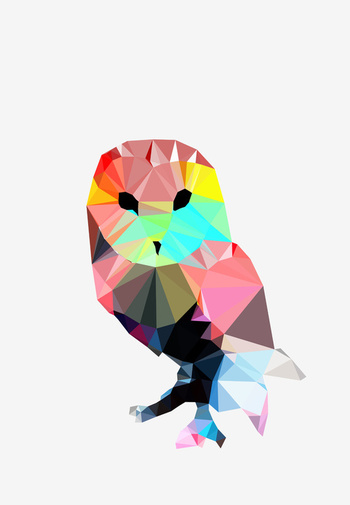 Crystal Owl Art Print by Three of the Possessed | Society6