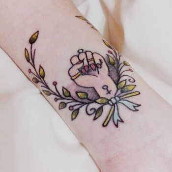 Gallery For > Feminist Fist Tattoo
