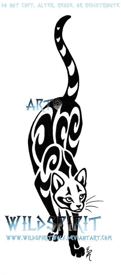 Prowling cat tattoo by wildspiritwolf on deviantart original
