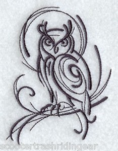 Tribal owl tattoos tribal tattoo asian owl bird blue backpack school tote book bag original