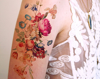 Vintage poppies floral temporary tattoo 5e63293b 2306 4691 8133 c58c8511adbe original