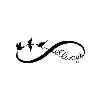 Infinity Always Temporary Tattoo Set of 2 by Tattify on Etsy