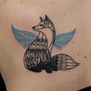 50+ Examples of Fox Tattoo | Art and Design