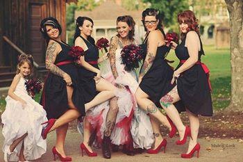 30 Awesome Tattooed Weddings & Wedding Tattoos - Tattoodo.com