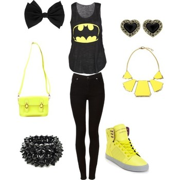 """""""Batman to the rescue ."""" by diamondthoo on Polyvore One of my friends can really make a superhero out"""
