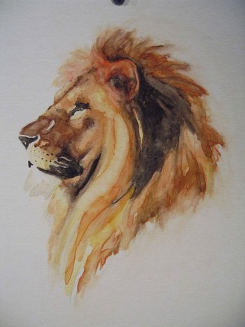 watercolor lion by paper-Panda on deviantART