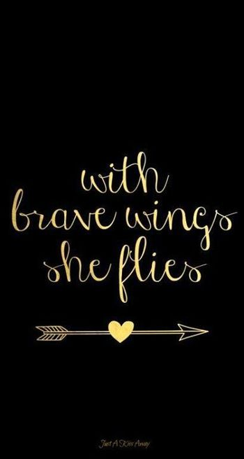With brave wings she flies..