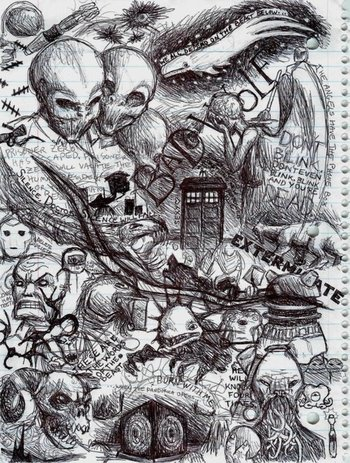 Doctor Who sketch vomit by padfoot2012 Love this!