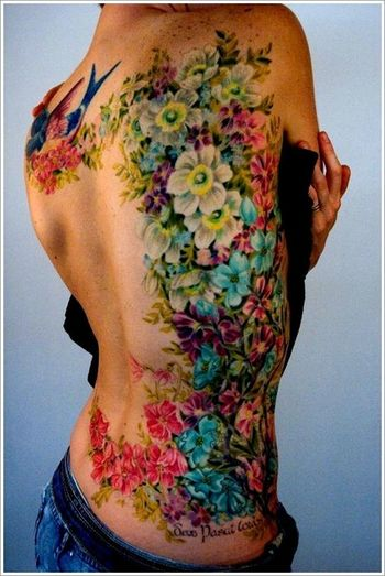Top 16 Beauty Body WaterColor Tattoos For Women – Your Own Inspiration Idea