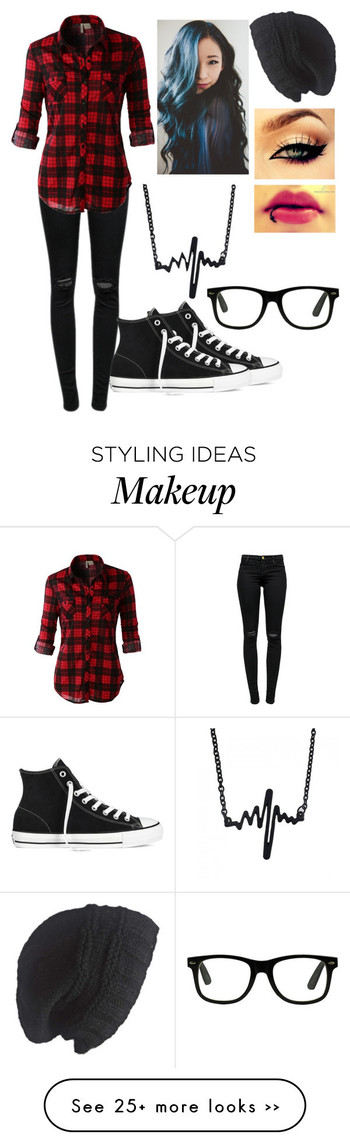 """""""Untitled #91"""" by devils-and-angels on Polyvore featuring J Brand, LE3NO, Laundromat and Converse"""