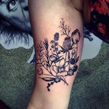 Rebecca Vincent. Beautiful simple tattoo