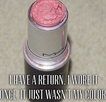 """Yeah, right! ;-) LOL Some """"cosmetic retail humor"""" to start the day!"""