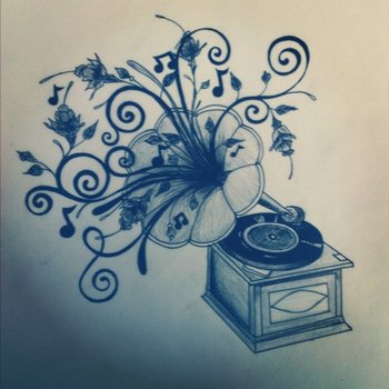 First draft of phonograph tattoo by BettyBoopEyes on deviantART