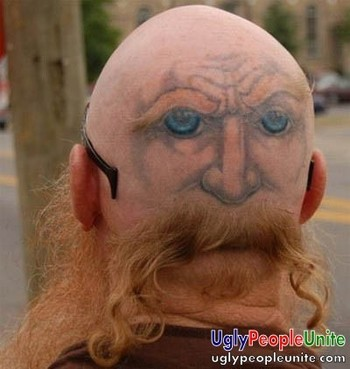 Back of the head tattoo | Ugly People Unite