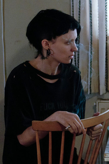 Rooney Mara as Lisbeth Salander, The Girl with the Dragon Tattoo (2011) #androgyny #tomboy
